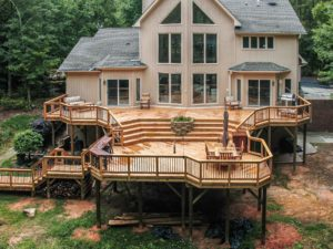 large deck attached to house