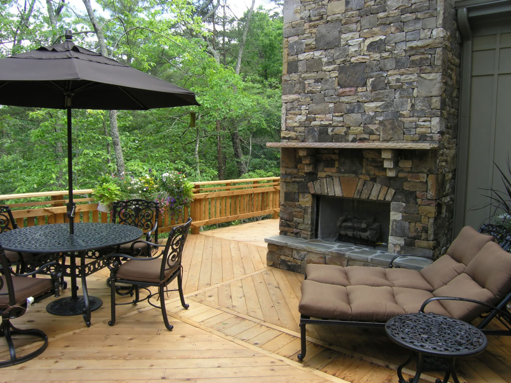Adding built-in features to a deck can raise the price.